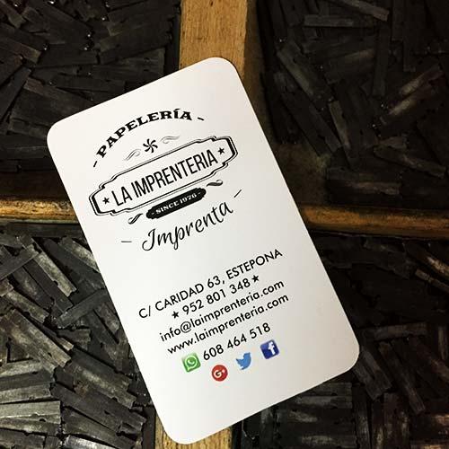 acabados tarjetas de visita en Estepona