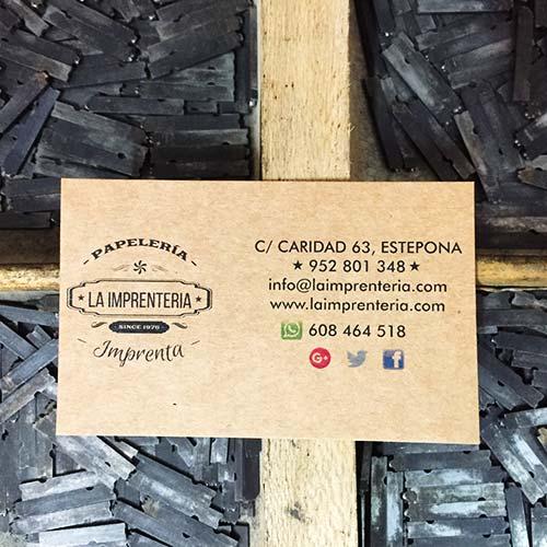 Papeles tarjetas de visita Estepona